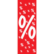 Plafondhanger %-teken, van papier