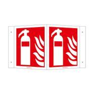 Brandblusser hoekbord