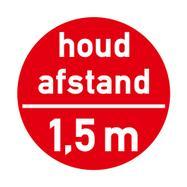 """Bodenaufkleber """"Houd afstand - 1,5 m"""""""
