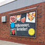 """Bannerframe-steeksysteem """"Wall"""" │ incl. PVC frontlit banner"""