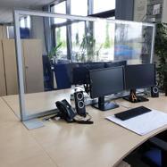 "Scheidingswand ""Desk"" incl. transparante PVC-banner"
