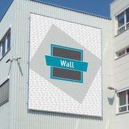 "Bannerframe-steeksysteem ""Wall"" │ aluminium"