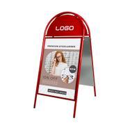 Outdoor posterstandaard met halfrond topbord