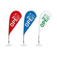 """Beachflag """"Open"""""""