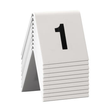 Tafelnummers van 1-60