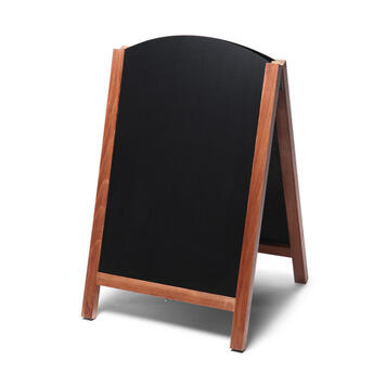 Krijtbord met ronde bovenkant