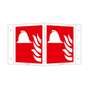 Hulpmiddelen en apparaten ter brandbestrijding - hoekbord