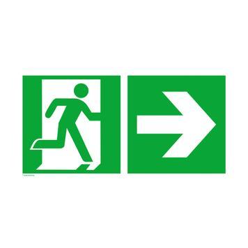 Nooduitgang rechts │ naar rechts
