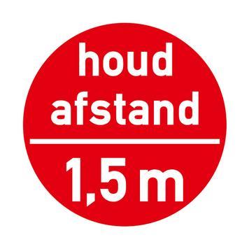 """Vloersticker """"Houd afstand - 1,5 m"""""""