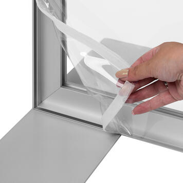 Glasheldere banner voor aluminium-stretchframe