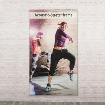 Akoestiek absorberende stretchframe