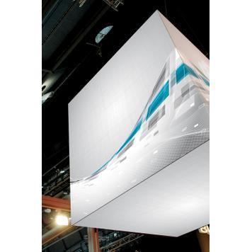 """Banner met digitaaldruk voor textielframe-systeem """"Cube"""""""