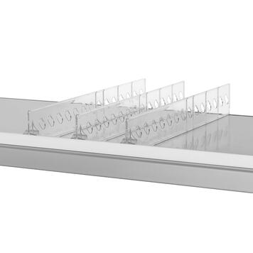 """Vakverdeler serie """"ROS"""", hoogte 60 mm, zonder artikelstopper, met breekpunten"""