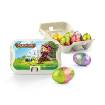 Easter Sixpack with Milk Chocolate Eggs