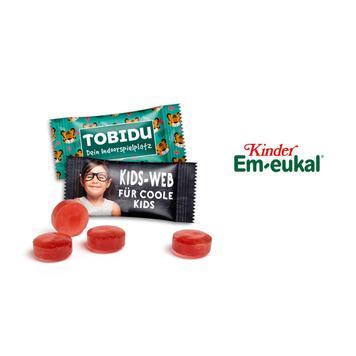 Em-eukal hoestpastilles voor kinderen in reclamezakjes