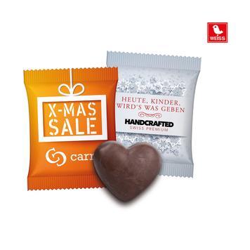 Peperkoek hart in een reclamezakje