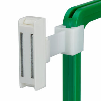 Magneet met elastische klem