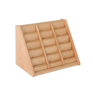 Visitekaartenstandaard van hout