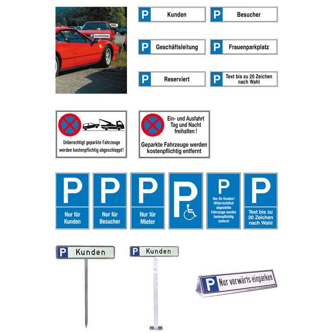 Parkeerbord voor mindervaliden van kunststof