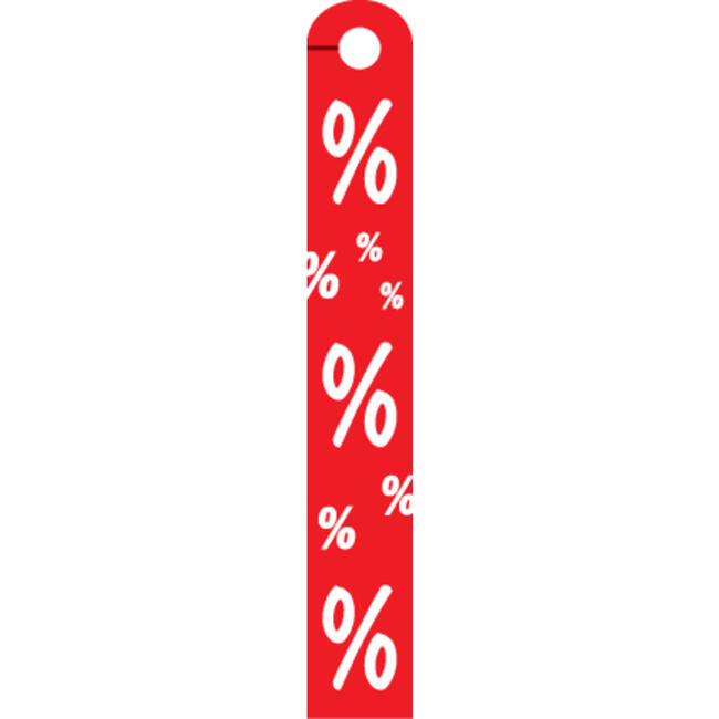 "Sticker ""%""-teken,van hard PVC"