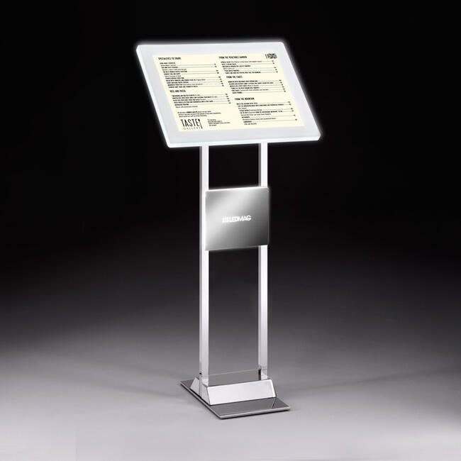 """LED infodisplay met magneetframe """"Staal"""""""