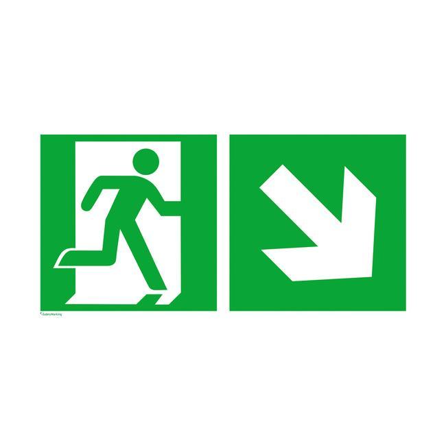 Nooduitgang rechts │ naar beneden