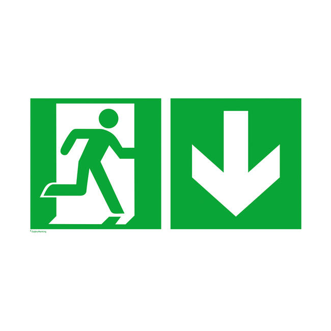Nooduitgang rechts │ terug