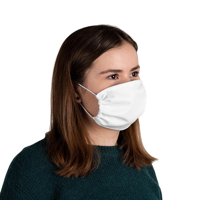 Masque de protection 100% polyester, 2 épaisseurs