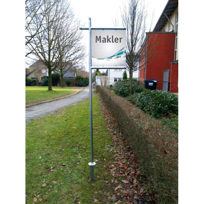 "Bannerrahmen Stecksystem Stahl ""Makler"""