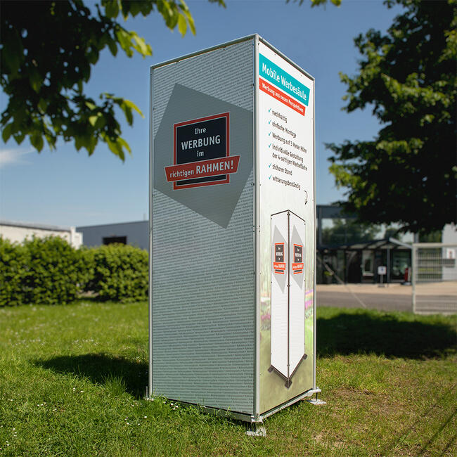 Mobile Advertising Pillar for Signs