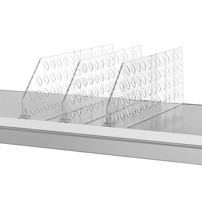 """Vakverdeler serie """"ROS"""", hoogte 140 mm, zonder artikelstopper, met breekpunten"""