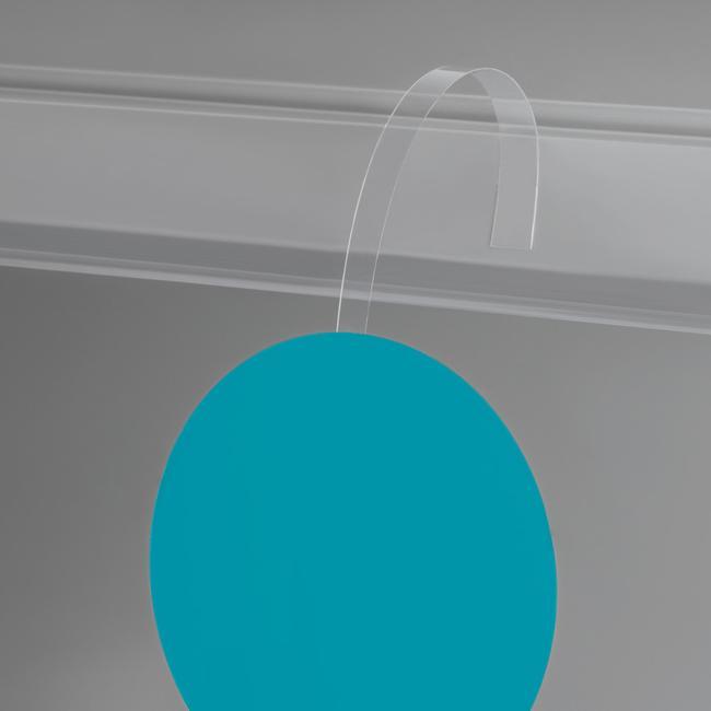 Prijswobbler, glashelder PVC