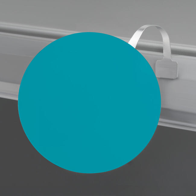 Prijswobbler aluminium 75 mm