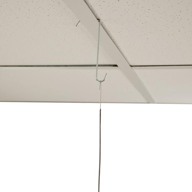 Crochet double de plafond à panneaux