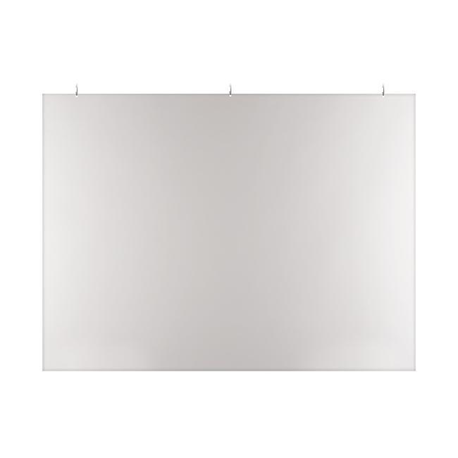 Preventiescherm van transparant kunststof, plafondmontage