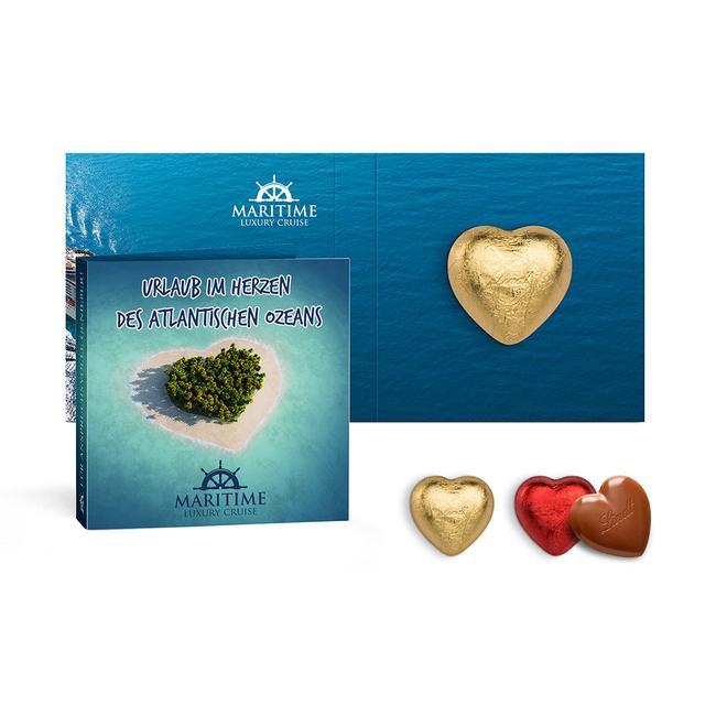Reclamekaart met Lindt chocoladehart