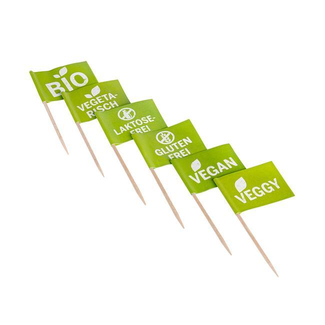Mini-vlaggetjes voor labeling van food-producten