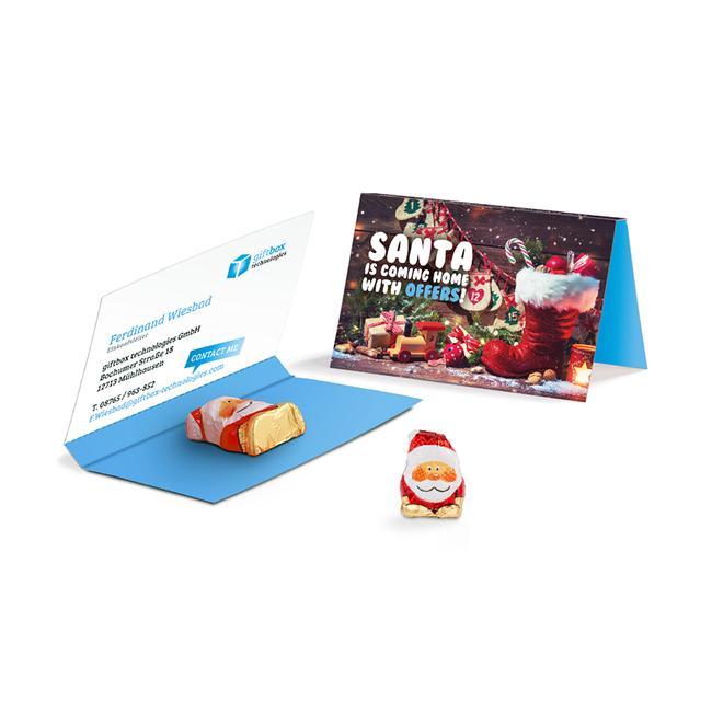 Reclamekaart Riegelein chocolade kerstman
