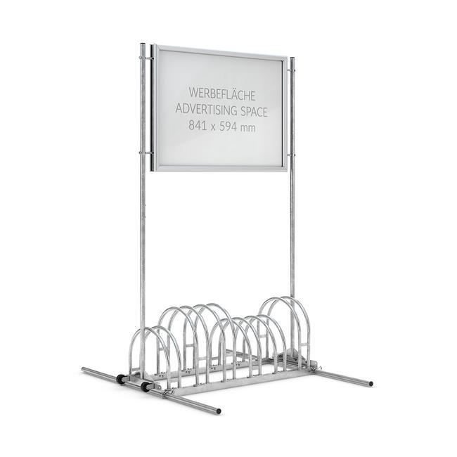 Fietsenstandaard met aluminium kliklijst