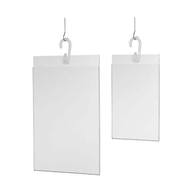 Acrylglasdisplay met ophanging DIN A4 – A5
