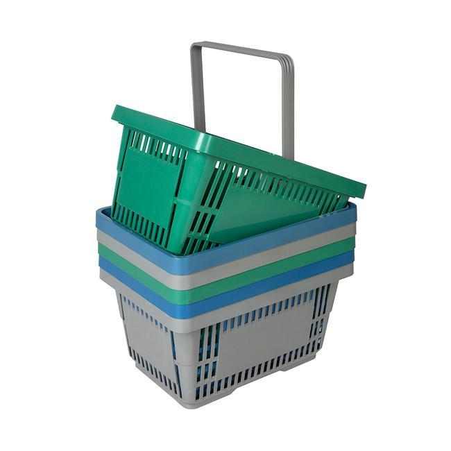 Winkelmandje van gerecycled materiaal