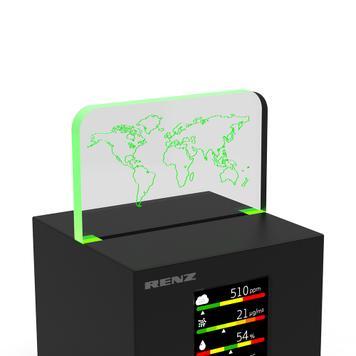 "Luchtkwaliteitsmeter ""Air2Color PRO"" met CO2-stoplicht"