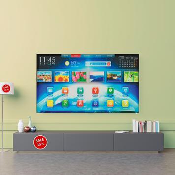 Stretchframe TV-dummy voor wandmontage