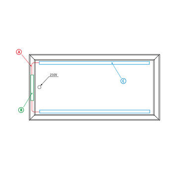 "bannergear® stand ""Betonvoet LED"", 2-zijdig"