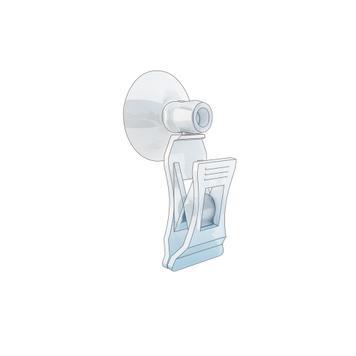 Sign Clip - klein │ met knijpklem en zuignap