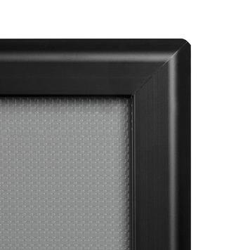 Kliklijst, 32 mm profiel, zwart geëloxeerd, verstekhoeken