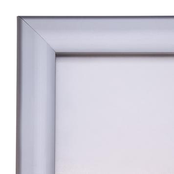 """Regenbestendig stoepbord """"RT"""", 35 mm profiel, verstekhoeken, zilver geëloxeerd"""