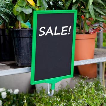 Posterframehouder voor plantenkarren