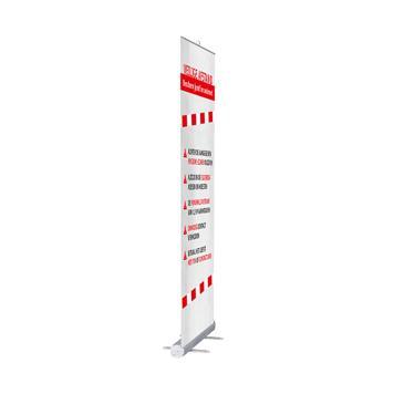 "Rolbanner ""Stick"" incl. banner ""Houd 1,5 m afstand"""