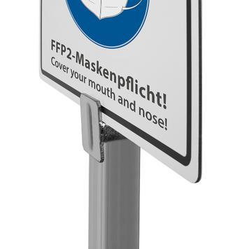 Informatiebord FFP2-mondkapjesplicht